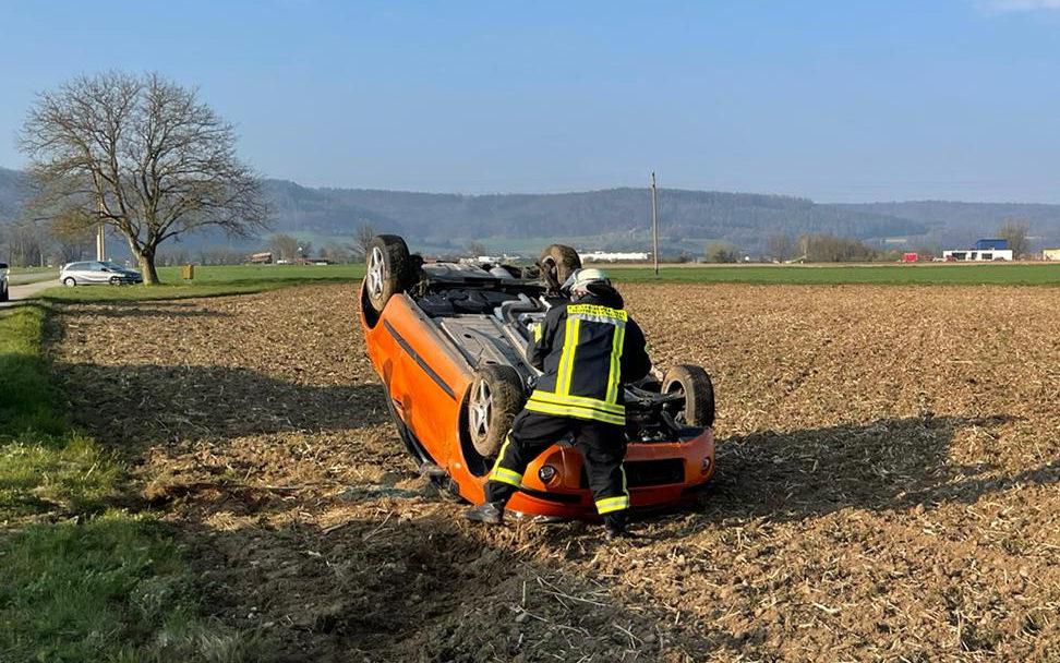 Verunfalltes Fahrzeug nach Verkehrsunfall